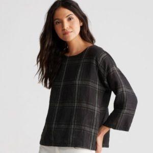 Eileen Fisher Plaid Linen Tunic